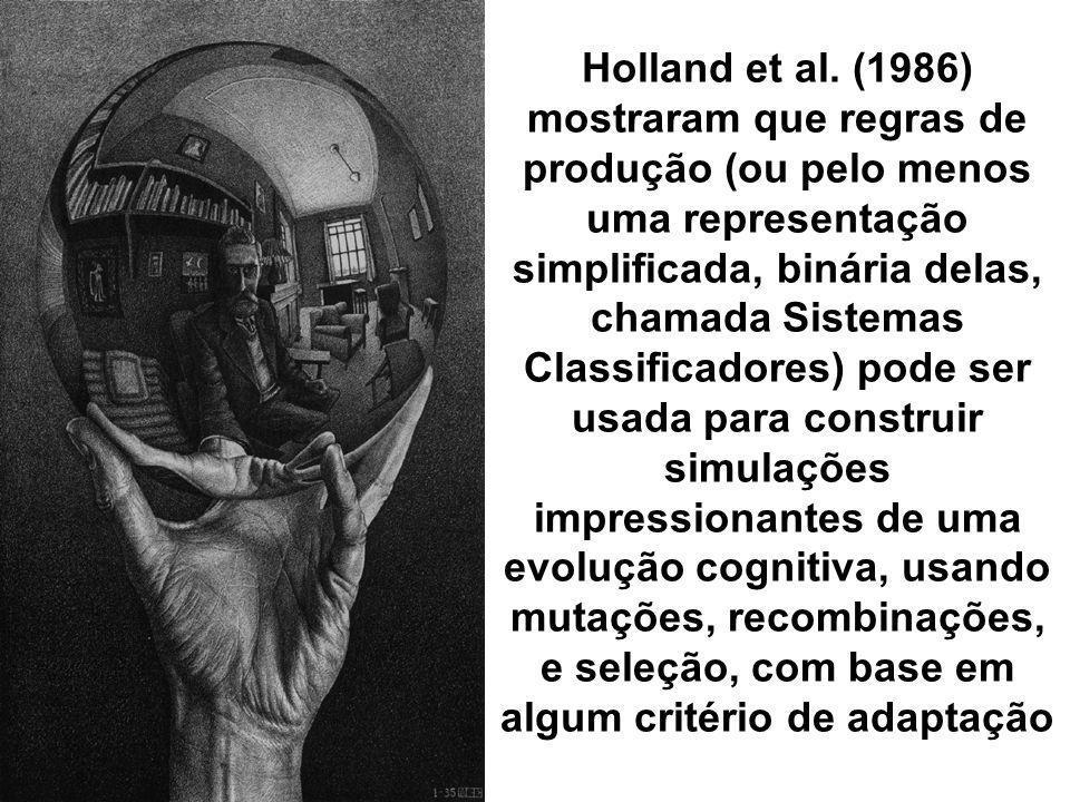 Holland et al. (1986) mostraram que regras de produção (ou pelo menos uma representação simplificada, binária delas, chamada Sistemas Classificadores)