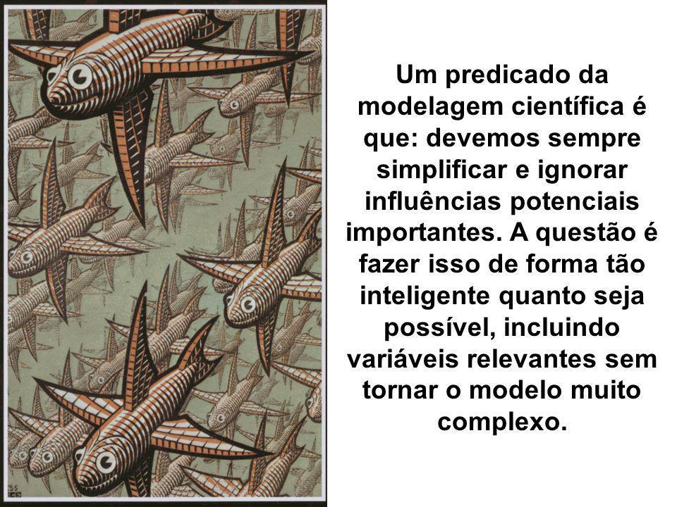 Um predicado da modelagem científica é que: devemos sempre simplificar e ignorar influências potenciais importantes. A questão é fazer isso de forma t