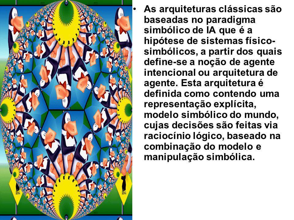 As arquiteturas clássicas são baseadas no paradigma simbólico de IA que é a hipótese de sistemas físico- simbólicos, a partir dos quais define-se a no
