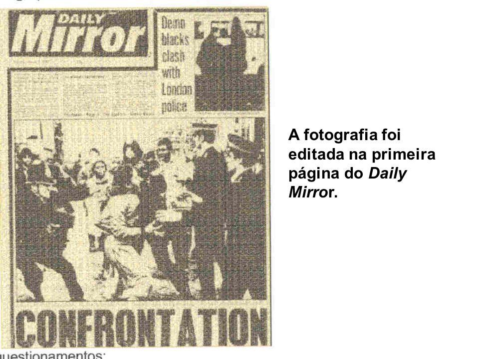 A fotografia foi editada na primeira página do Daily Mirror.
