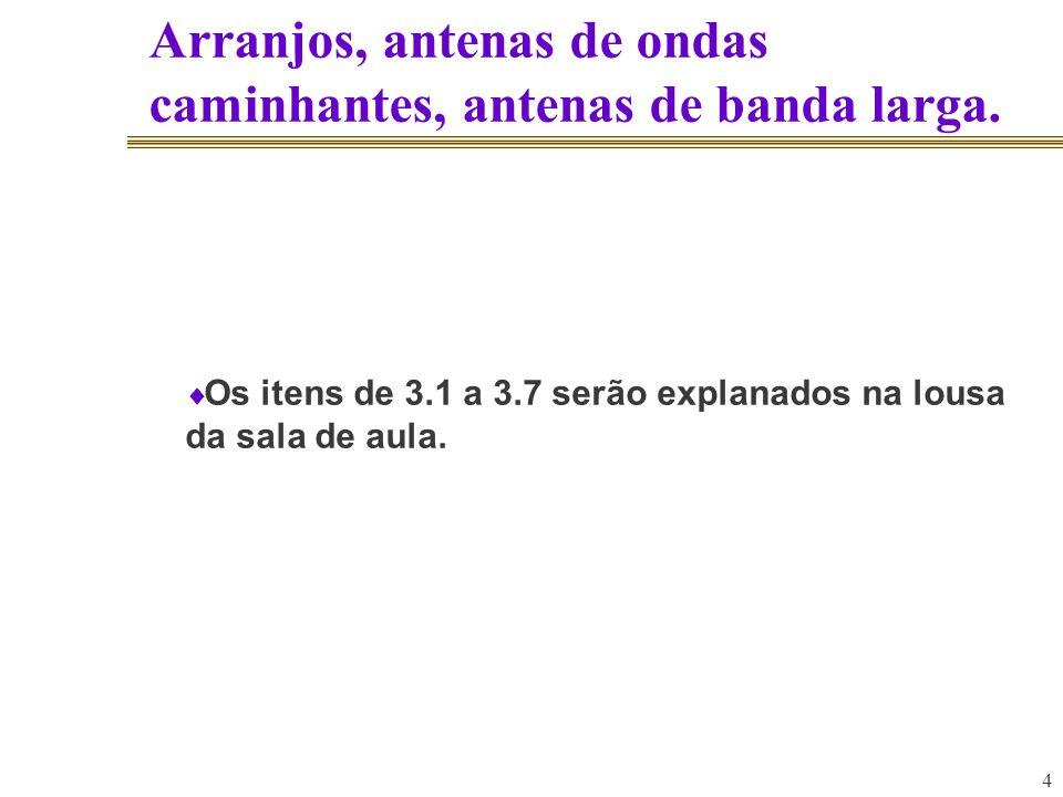 3.7.6. Outras Antenas 65 3.76.1. Antenas de ondas medias.