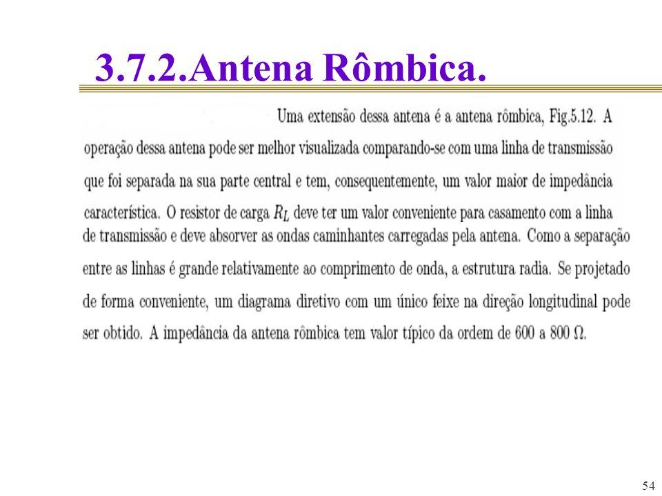 54 3.7.2.Antena Rômbica.