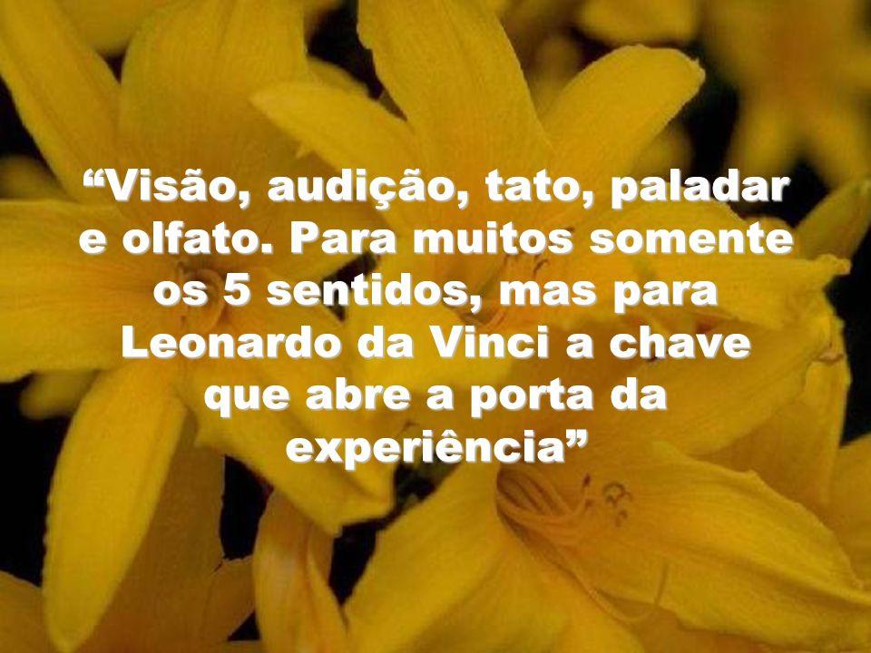 Visão, audição, tato, paladar e olfato. Para muitos somente os 5 sentidos, mas para Leonardo da Vinci a chave que abre a porta da experiência