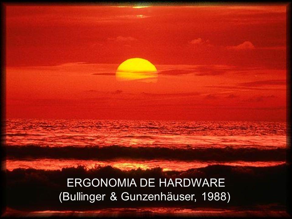 ERGONOMIA DE HARDWARE (Bullinger & Gunzenhäuser, 1988)