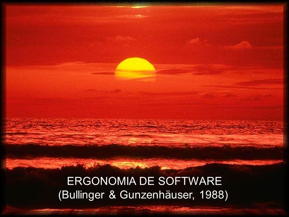 ERGONOMIA DE SOFTWARE (Bullinger & Gunzenhäuser, 1988)