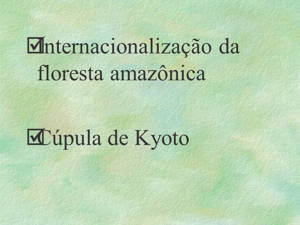 þInternacionalização da floresta amazônica þCúpula de Kyoto