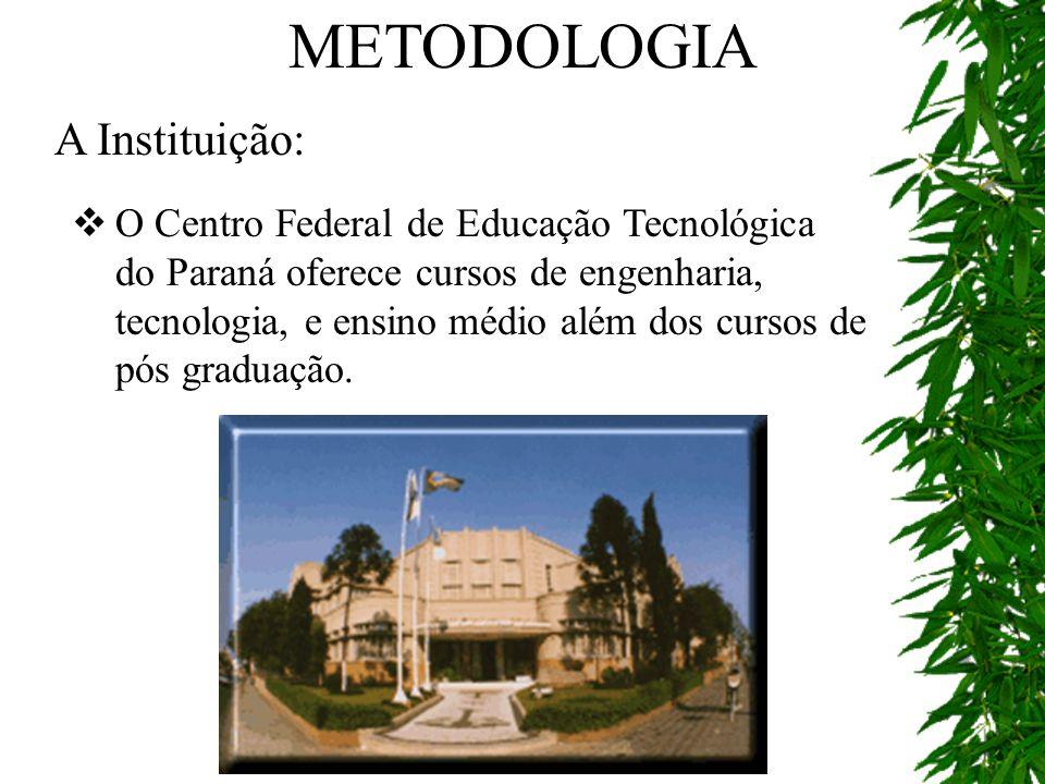 A Instituição: O Centro Federal de Educação Tecnológica do Paraná oferece cursos de engenharia, tecnologia, e ensino médio além dos cursos de pós grad