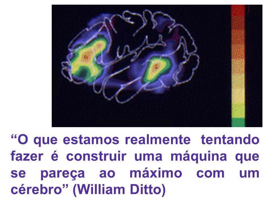 O que estamos realmente tentando fazer é construir uma máquina que se pareça ao máximo com um cérebro (William Ditto)