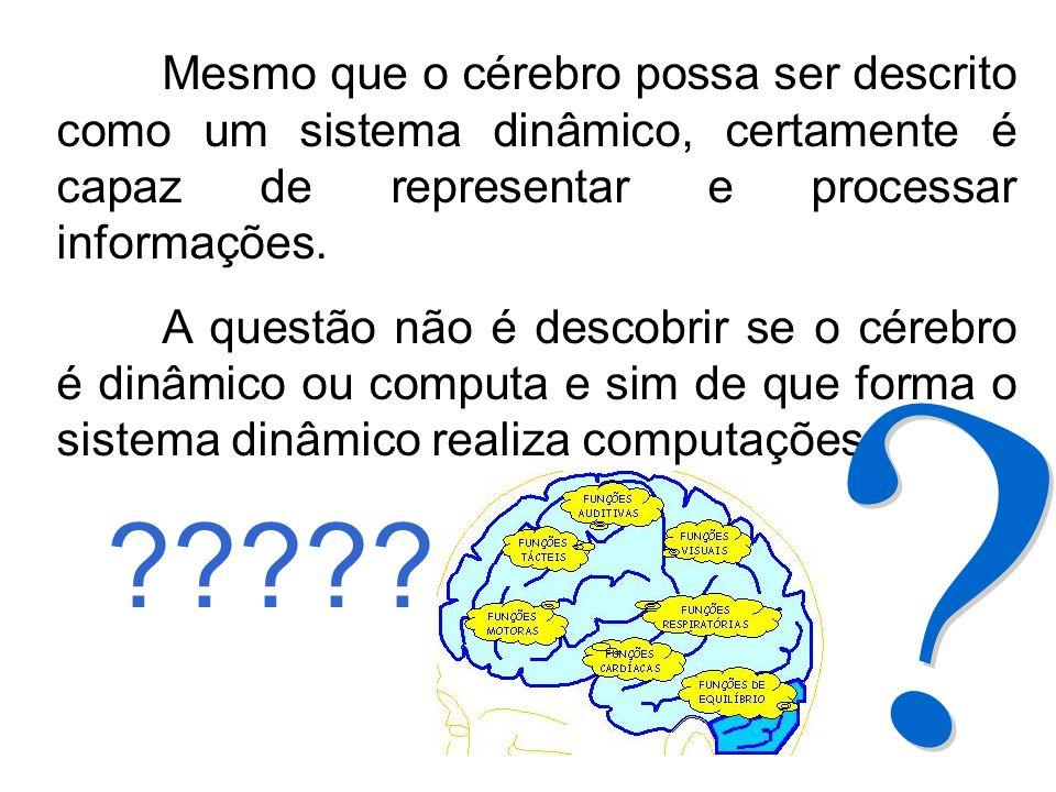 Mesmo que o cérebro possa ser descrito como um sistema dinâmico, certamente é capaz de representar e processar informações. A questão não é descobrir