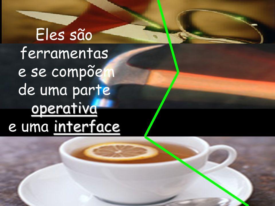 Eles são ferramentas e se compõem operativa de uma parte operativa interface e uma interface