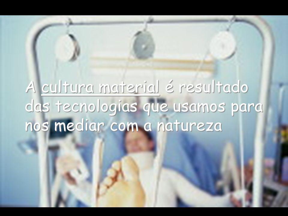 A cultura material material é resultado das tecnologias que usamos para nos mediar com a natureza