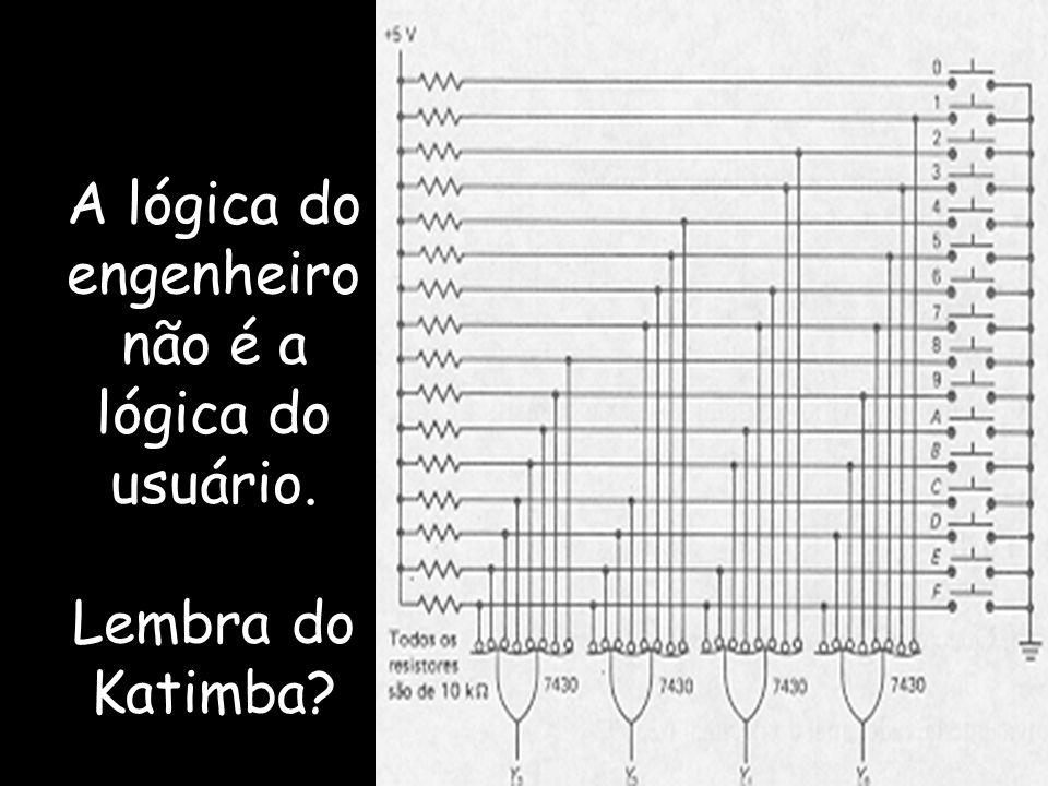 A lógica do engenheiro não é a lógica do usuário. Lembra do Katimba?