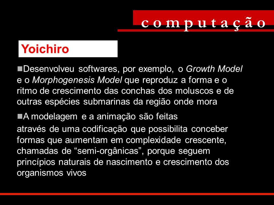 Desenvolveu softwares, por exemplo, o Growth Model e o Morphogenesis Model que reproduz a forma e o ritmo de crescimento das conchas dos moluscos e de