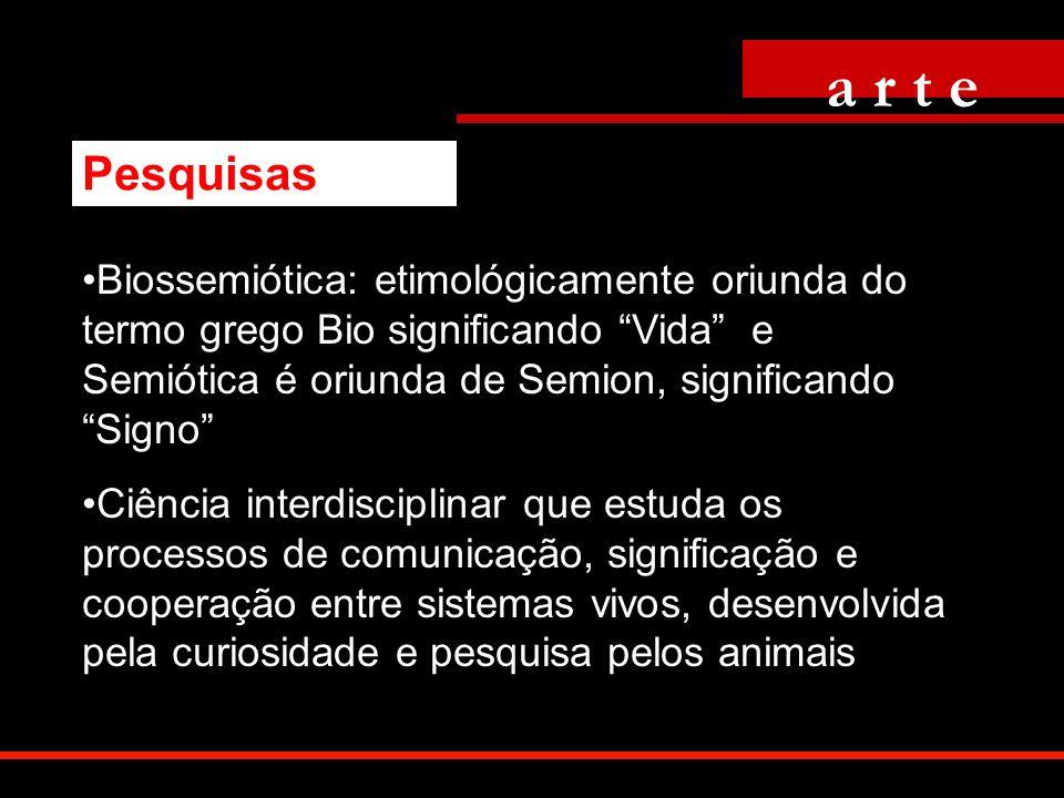 Biossemiótica: etimológicamente oriunda do termo grego Bio significando Vida e Semiótica é oriunda de Semion, significando Signo Ciência interdiscipli