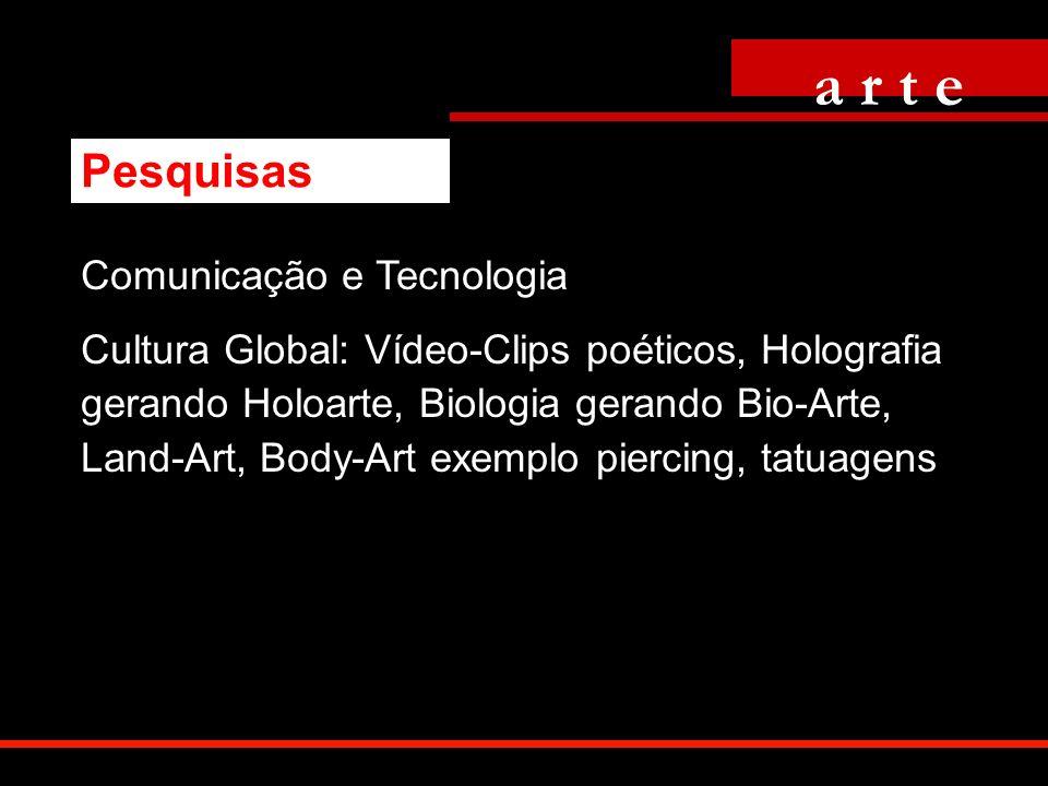 Comunicação e Tecnologia Cultura Global: Vídeo-Clips poéticos, Holografia gerando Holoarte, Biologia gerando Bio-Arte, Land-Art, Body-Art exemplo pier