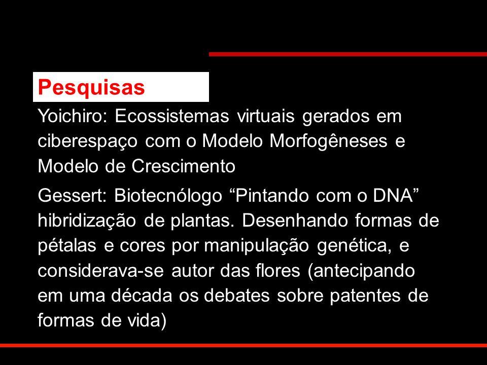 Yoichiro: Ecossistemas virtuais gerados em ciberespaço com o Modelo Morfogêneses e Modelo de Crescimento Gessert: Biotecnólogo Pintando com o DNA hibr