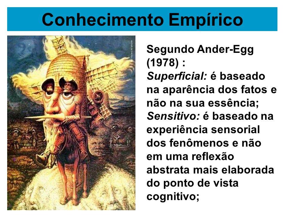 Segundo os empiristas, como Locke, Hume, Condillac, entre outros, o conhecimento empírico é suficiente para se conhecer a verdade dos fatos.
