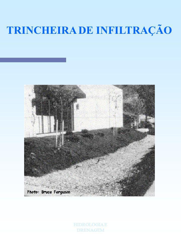 HIDROLOGIA E DRENAGEM TRINCHEIRA DE INFILTRAÇÃO