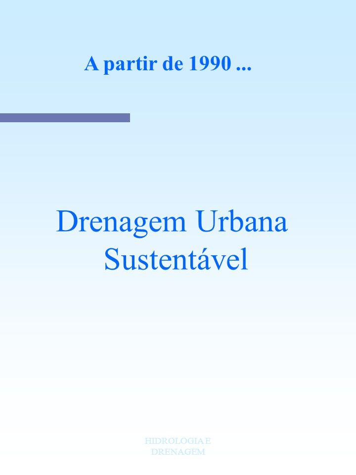HIDROLOGIA E DRENAGEM A partir de 1990... Drenagem Urbana Sustentável