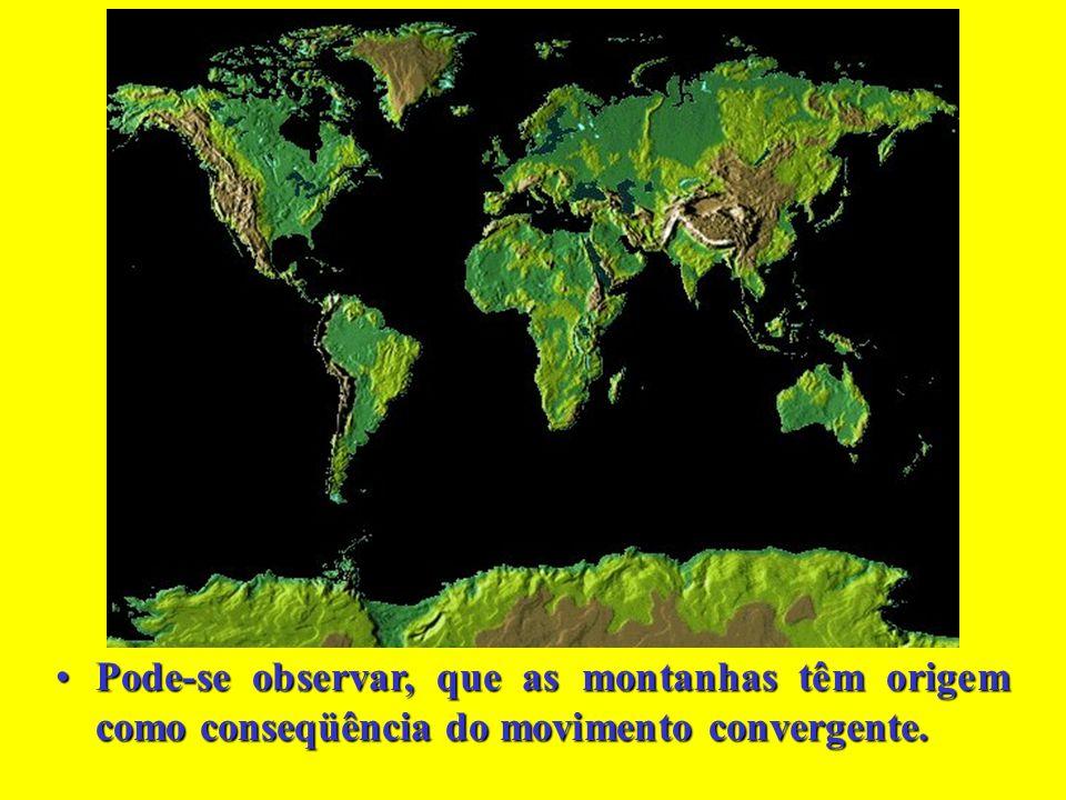 Pode-se observar, que as montanhas têm origem como conseqüência do movimento convergente.Pode-se observar, que as montanhas têm origem como conseqüência do movimento convergente.