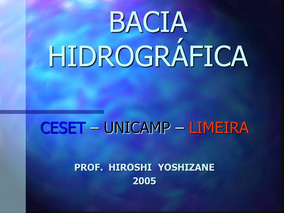 BACIA HIDROGRÁFICA CESET – UNICAMP – LIMEIRA PROF. HIROSHI YOSHIZANE 2005