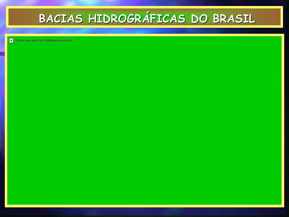 BACIAS HIDROGRÁFICAS DO BRASIL BACIAS HIDROGRÁFICAS DO BRASIL