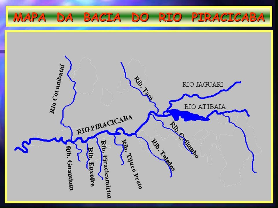 MAPA DA BACIA DO RIO PIRACICABA