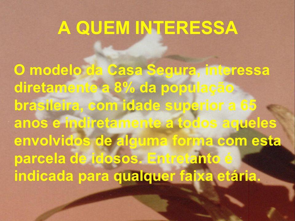 A QUEM INTERESSA O modelo da Casa Segura, interessa diretamente a 8% da população brasileira, com idade superior a 65 anos e indiretamente a todos aqu