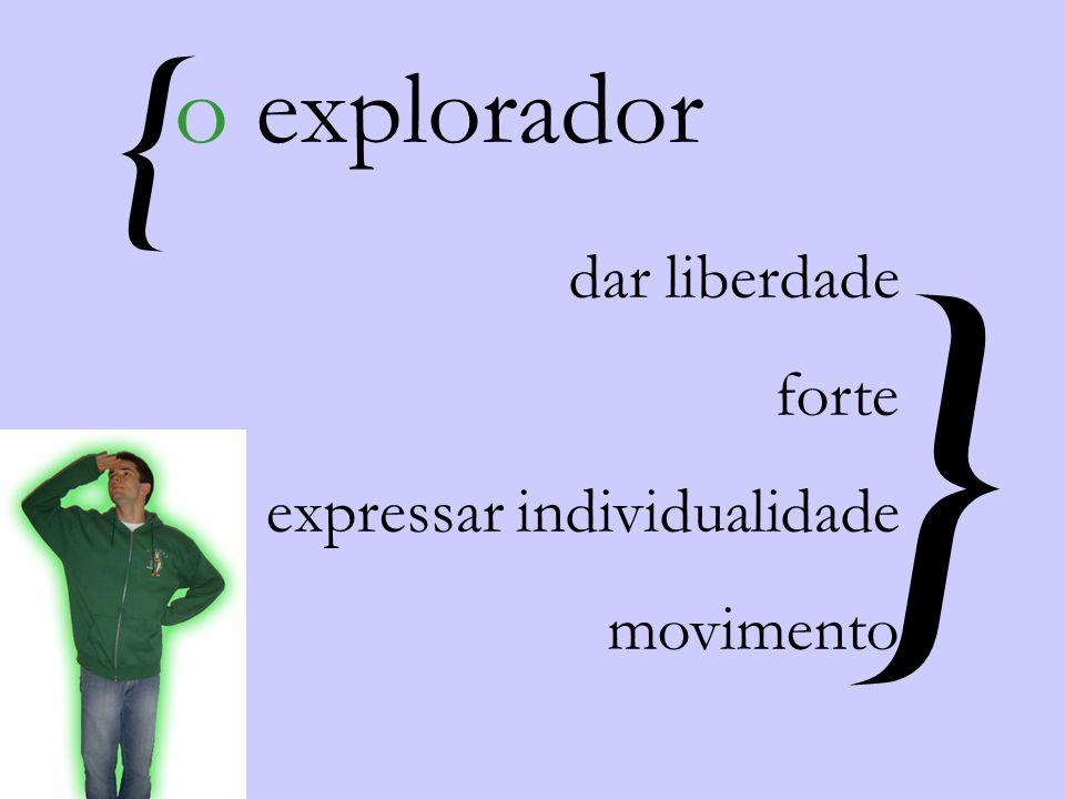 { } o explorador dar liberdade forte expressar individualidade movimento