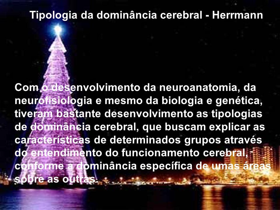 Tipologia da dominância cerebral - Herrmann Com o desenvolvimento da neuroanatomia, da neurofisiologia e mesmo da biologia e genética, tiveram bastant