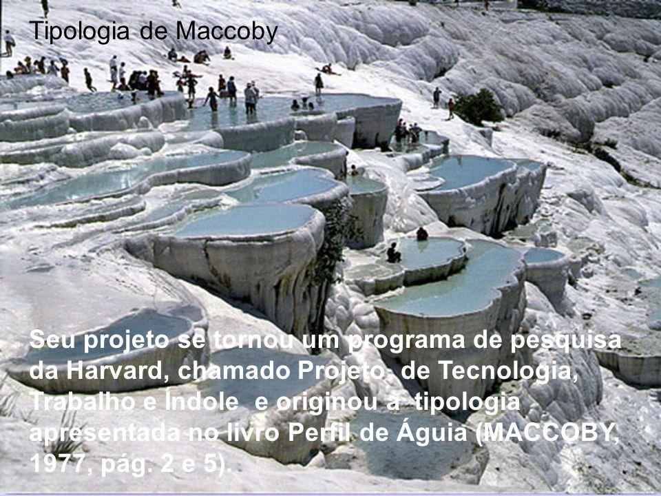Tipologia de Maccoby Seu projeto se tornou um programa de pesquisa da Harvard, chamado Projeto de Tecnologia, Trabalho e Índole e originou a tipologia