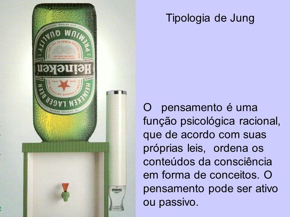 Tipologia de Jung O pensamento é uma função psicológica racional, que de acordo com suas próprias leis, ordena os conteúdos da consciência em forma de