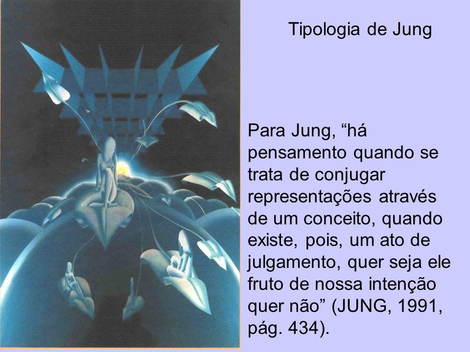 Tipologia de Jung Para Jung, há pensamento quando se trata de conjugar representações através de um conceito, quando existe, pois, um ato de julgament
