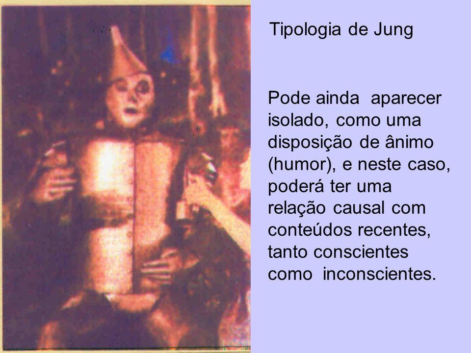 Tipologia de Jung Pode ainda aparecer isolado, como uma disposição de ânimo (humor), e neste caso, poderá ter uma relação causal com conteúdos recente