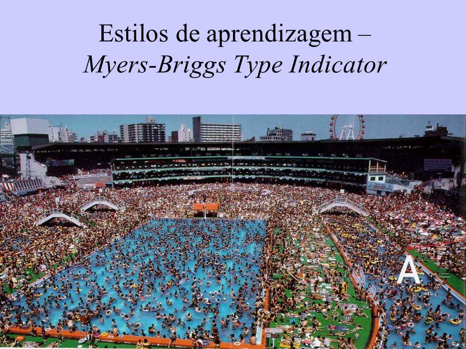 Estilos de aprendizagem – Myers-Briggs Type Indicator