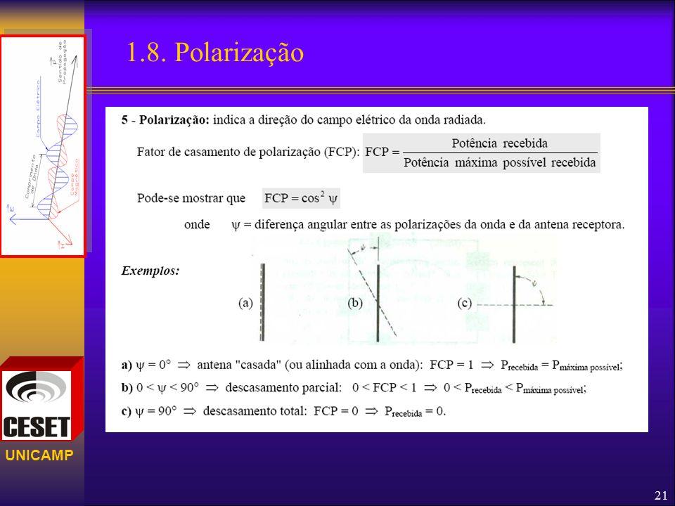 UNICAMP 1.8. Polarização 21