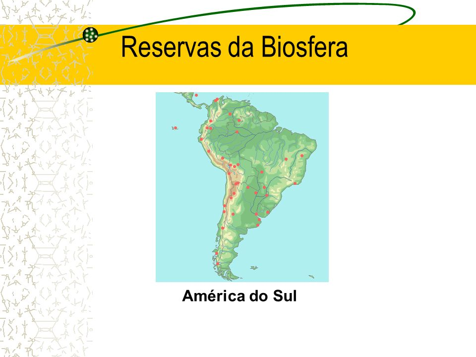 Reservas da Biosfera América do Sul