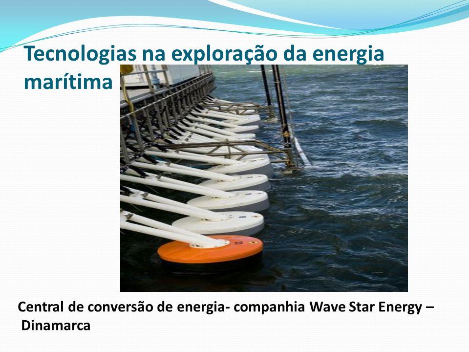 Tecnologias na exploração da energia marítima Central de conversão de energia- companhia Wave Star Energy – Dinamarca