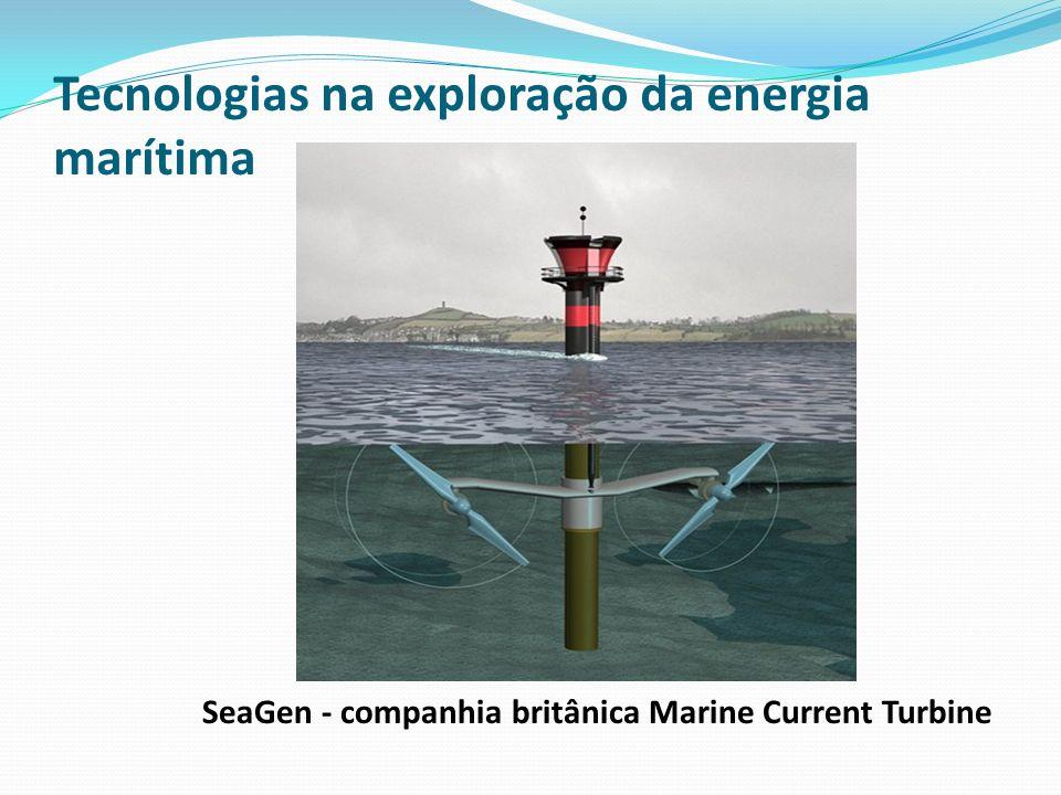 Tecnologias na exploração da energia marítima SeaGen - companhia britânica Marine Current Turbine