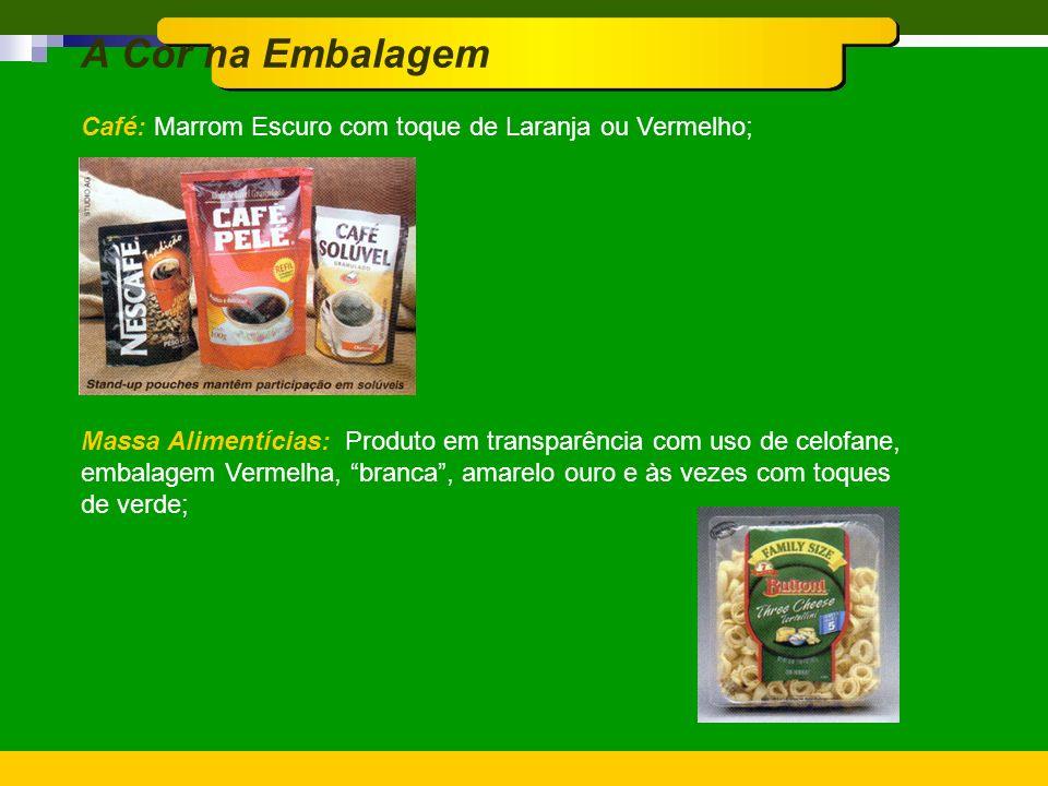 A Cor na Embalagem Inseticidas: Amarelo e Preto, Verde-Escuro; Desinfetantes: Vermelho e Branco, Azul-Marinho; Desodorantes: Verde, Branco, Azul com t