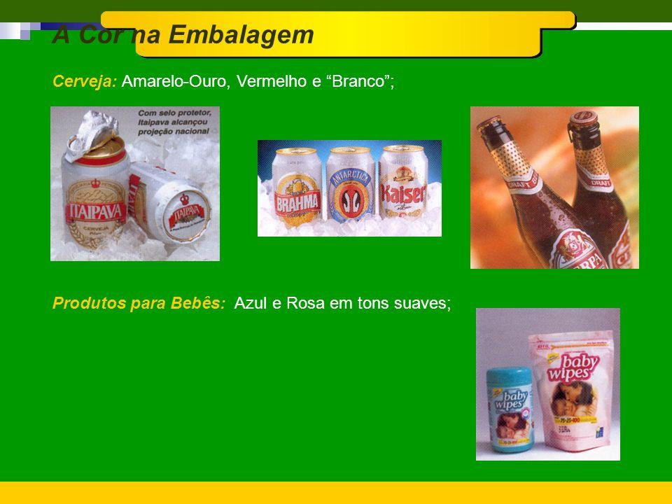 A Cor na Embalagem Café: Marrom Escuro com toque de Laranja ou Vermelho; Massa Alimentícias: Produto em transparência com uso de celofane, embalagem V