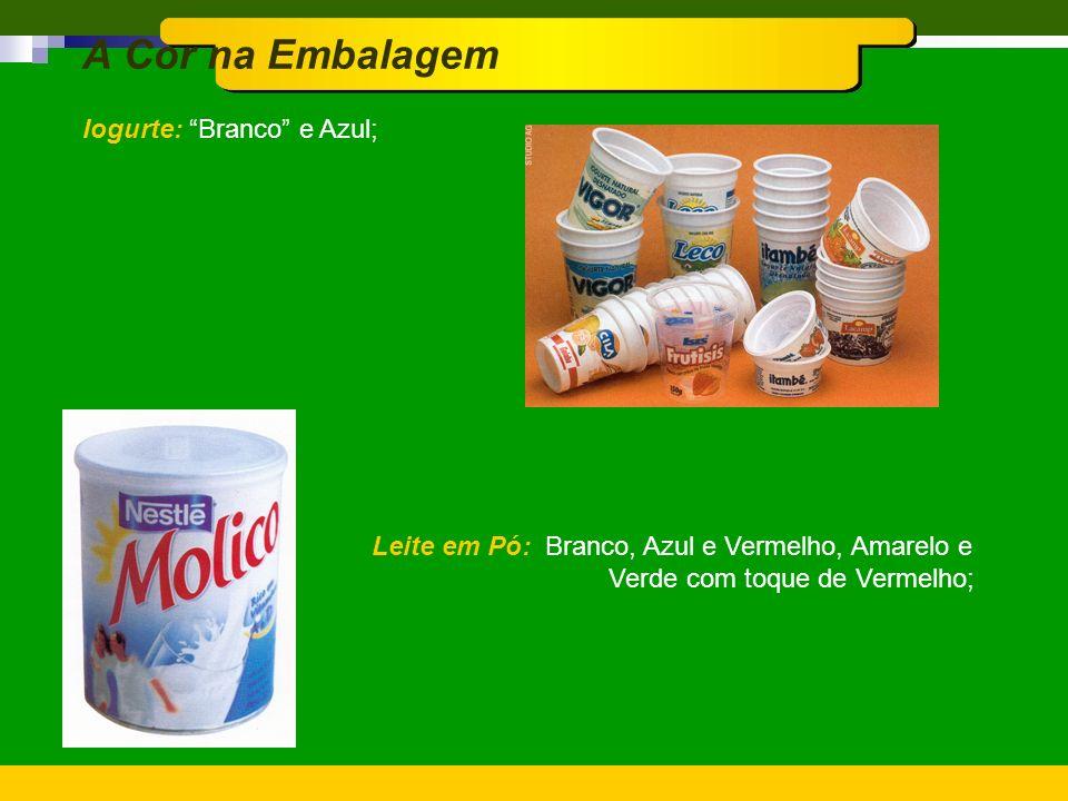 A Cor na Embalagem Cerveja: Amarelo-Ouro, Vermelho e Branco; Produtos para Bebês: Azul e Rosa em tons suaves;