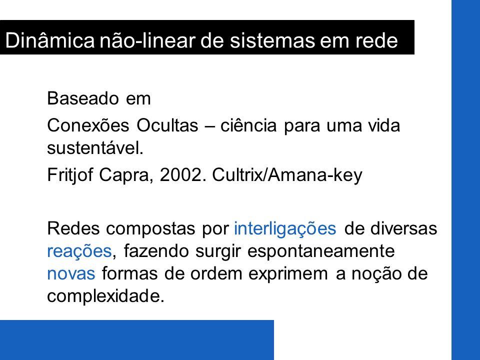 Baseado em Conexões Ocultas – ciência para uma vida sustentável. Fritjof Capra, 2002. Cultrix/Amana-key Redes compostas por interligações de diversas