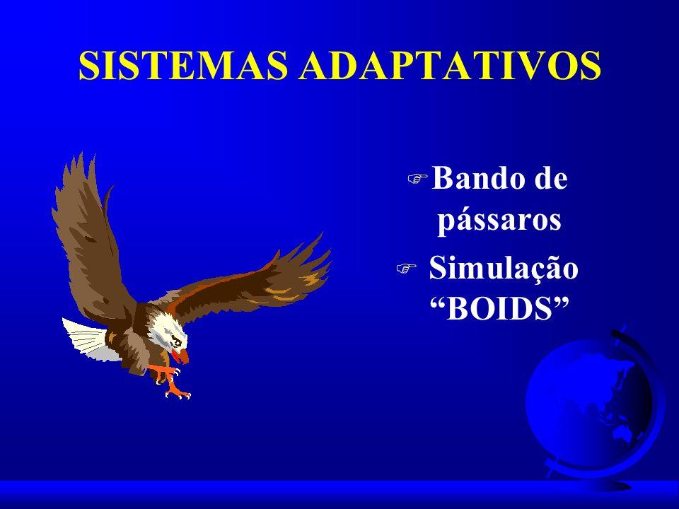 SISTEMAS ADAPTATIVOS F Bando de pássaros F Simulação BOIDS