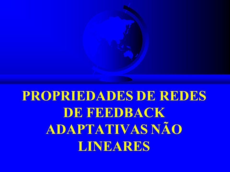 PROPRIEDADES DE REDES DE FEEDBACK ADAPTATIVAS NÃO LINEARES