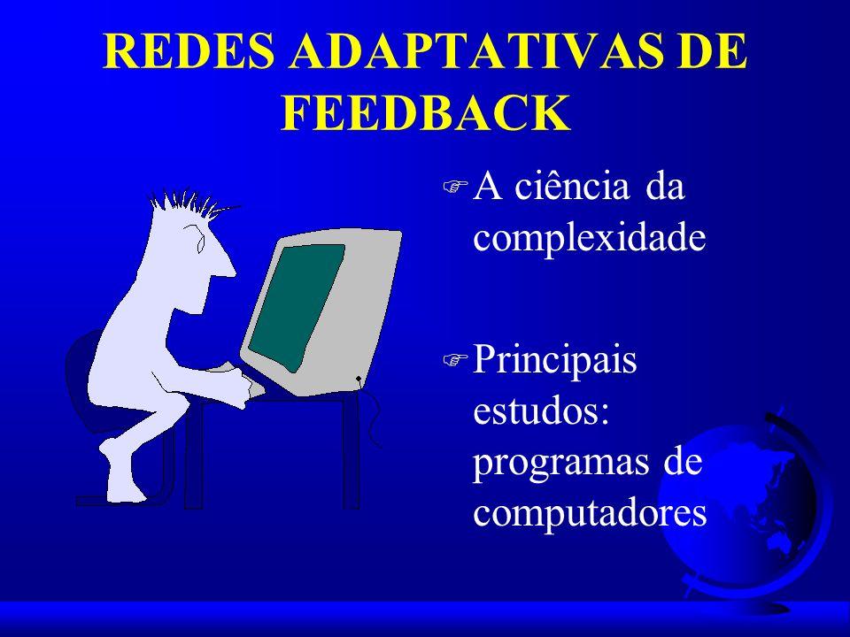 REDES ADAPTATIVAS DE FEEDBACK F A ciência da complexidade F Principais estudos: programas de computadores