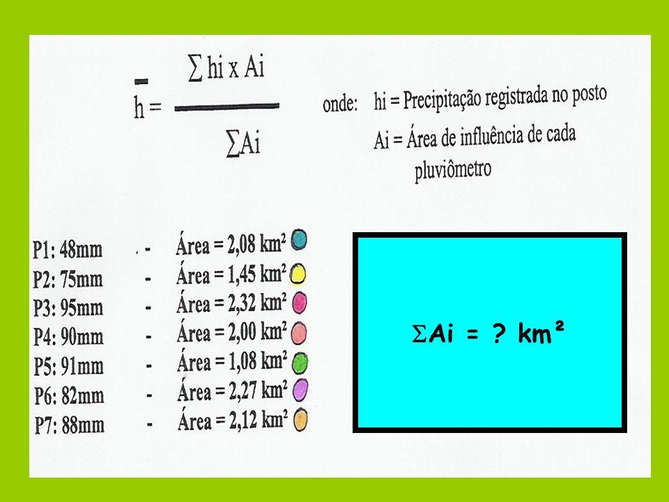 Ai = ? km²