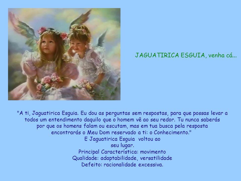 JAGUATIRICA ESGUIA, venha cá... A ti, Jaguatirica Esguia.