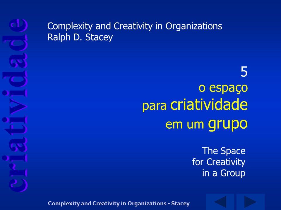 criatividade Complexity and Creativity in Organizations - Stacey 5 o espaço para criatividade em um grupo The Space for Creativity in a Group Complexi