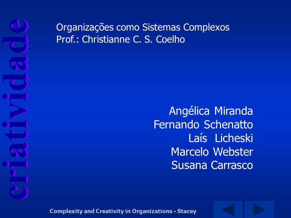 criatividade Complexity and Creativity in Organizations - Stacey Angélica Miranda Fernando Schenatto Laís Licheski Marcelo Webster Susana Carrasco Pro